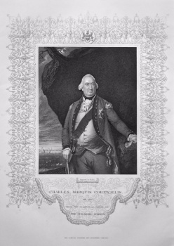 Charles , Marquis Cornwallis. OB. 1805 from the Original of Copley in the Guildhall London.