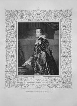 Charles Wentworth, Marquis of Rockingham. OB. 1782. From the original of Sir Joshua Reynolds, in the collection of The Right Hon. The Earl of Fitzwill