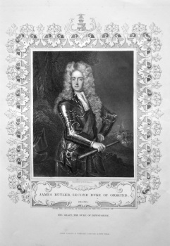 James Butler, Second Duke of Ormond. OB. 1745.  From the Original of Kneller in the Collection of His Grace, the Duke of Devonshire.
