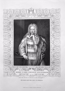Henry St. John, Viscount Bolingbroke. OB. 1751.  From the Original of Kneller, in the Collection of The Right Hon. The Earl of Egremont.