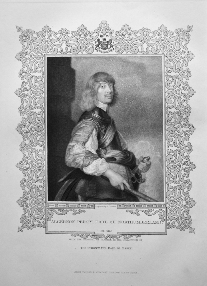 Algernon Percy, Earl of Northumberland.  OB. 1668.  From the original of Va