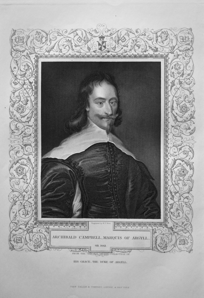 Archibald Campbell, Marquis of Argyll.  OB. 1661.  From the original in the