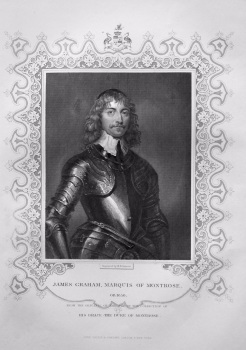 James Graham, Marquis of Montrose.  OB. 1650.  From the original of Vandyke, in the collection of His Grace, The Duke of Montrose.