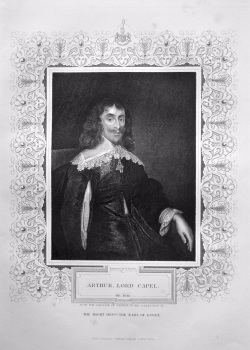 Arthur, Lord Capel. OB. 1648. From the original of Jansen, in the collection of The Right Hon. the Earl of Essex.