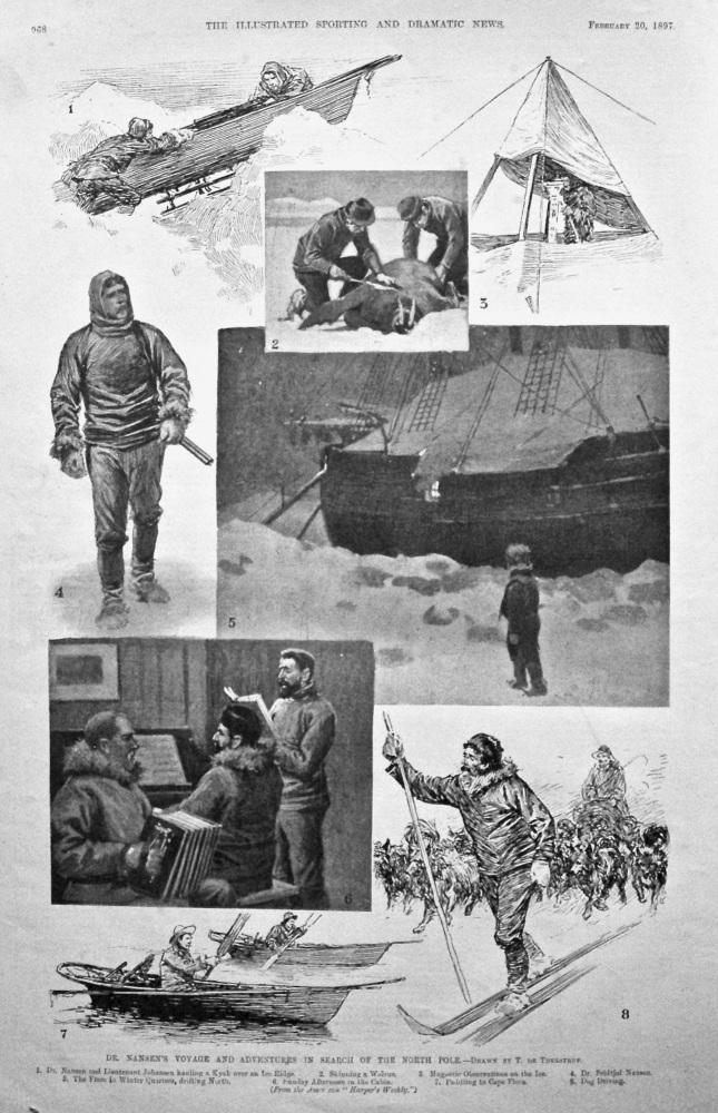 Dr. Nansen's Voyage and Adventures in Search of the North Pole. 1897.