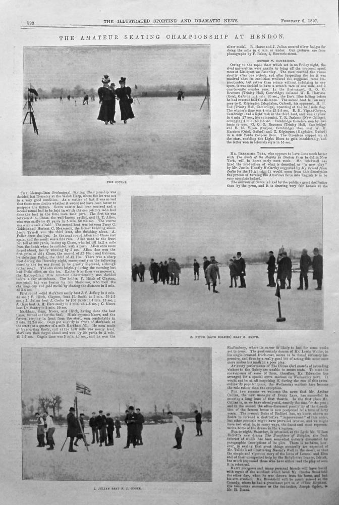 The Amateur Skating Championship at Hendon. 1879.