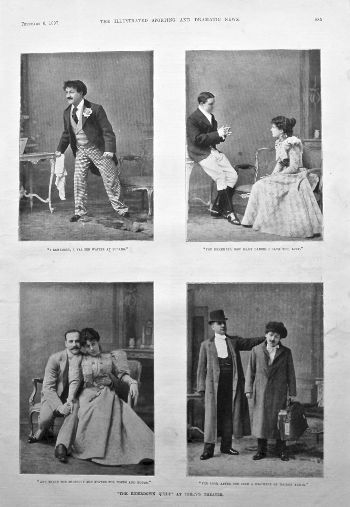 """""""The Eiderdown Quilt"""" at Terry's Theatre. 1897."""