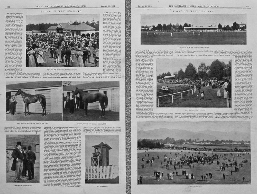 Sport in New Zealand. 1897.