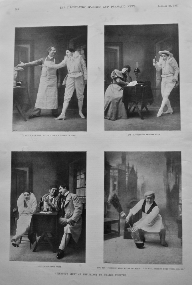 """Pierrot's Life"" at the Prince of Wales's Theatre. 1897."