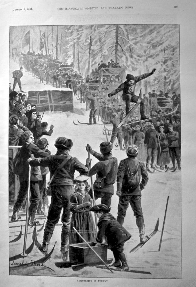 Skiloebning in Norway. 1897.