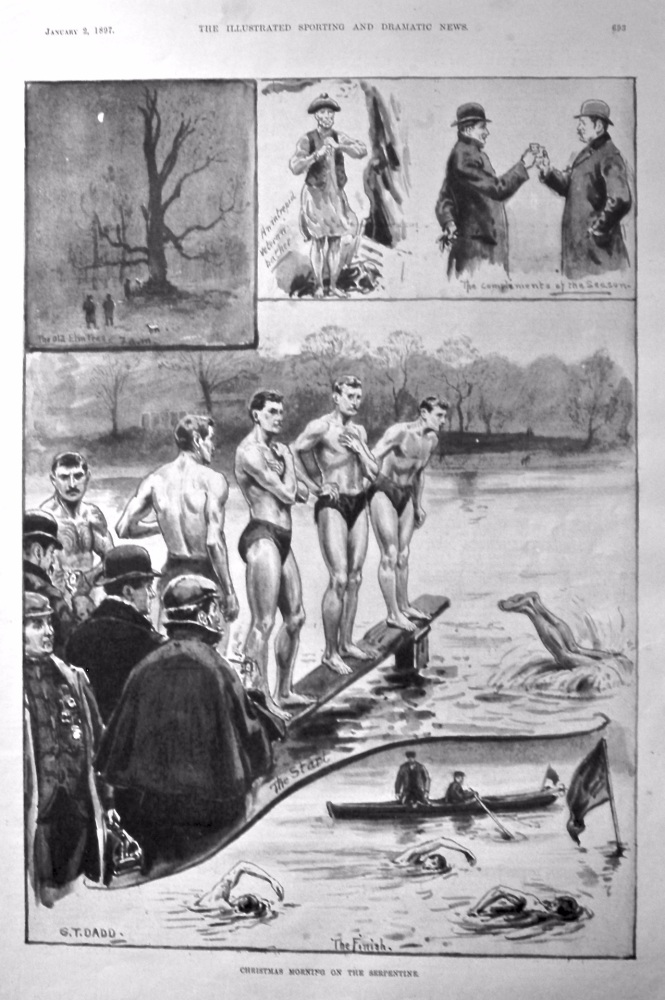 Christmas Morning on the Serpentine. 1897.