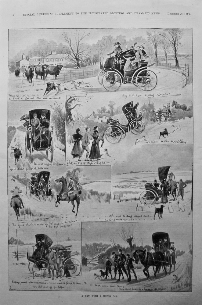 A Day with a Motor Car. 1896.