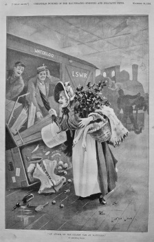 """""""An Attack on the Guards' Van at Waterloo !"""".  1896."""