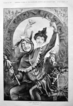 """Jolly Good Luck To All !"".  1896."