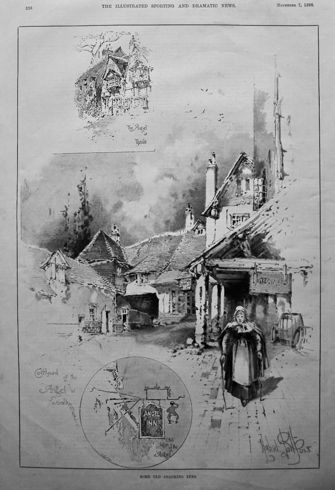 Old Coaching Inns. (The Angel at Theale).  1896.