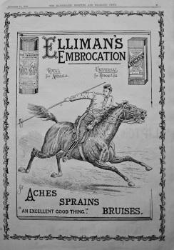 Elliman's Embrocation.  1896.