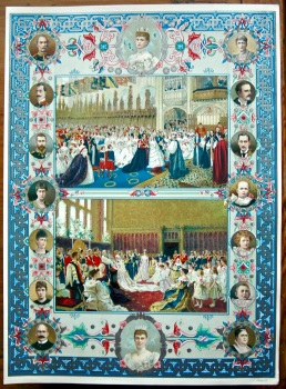Diamond Jubilee for Queen Victoria.  (Chromo-Lithographic Plate) 1897.