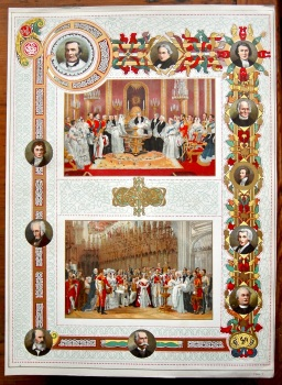 Diamond Jubilee of Queen Victoria.  (Chromo-Lithographic Plate).  1897.
