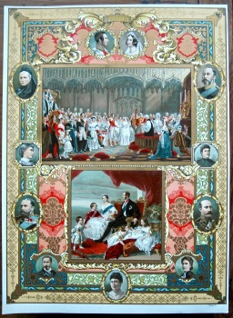 Diamond Jubilee of Queen Victoria.  (Chromo-Lithographic Plate No. IV.)  1897.