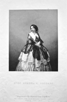Miss Arabella Goddard.  1858c.