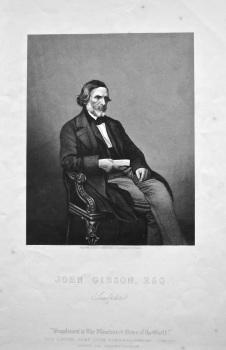 John Gibson, Esq. Sculptor.  1858c.
