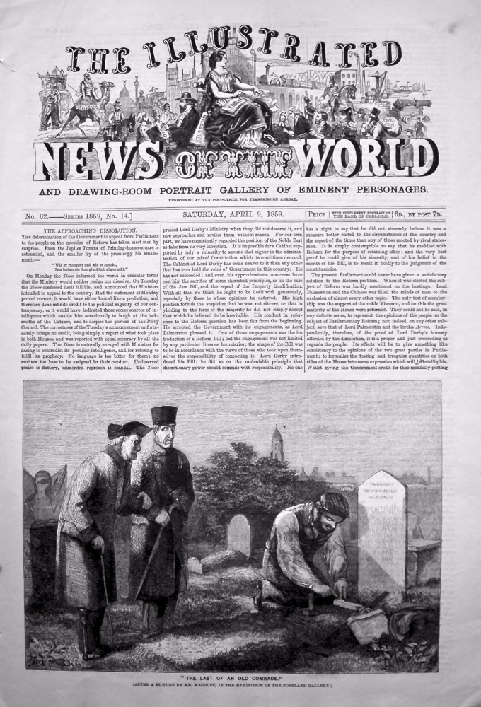 The Illustrated News of the World, April 9th, 1859.