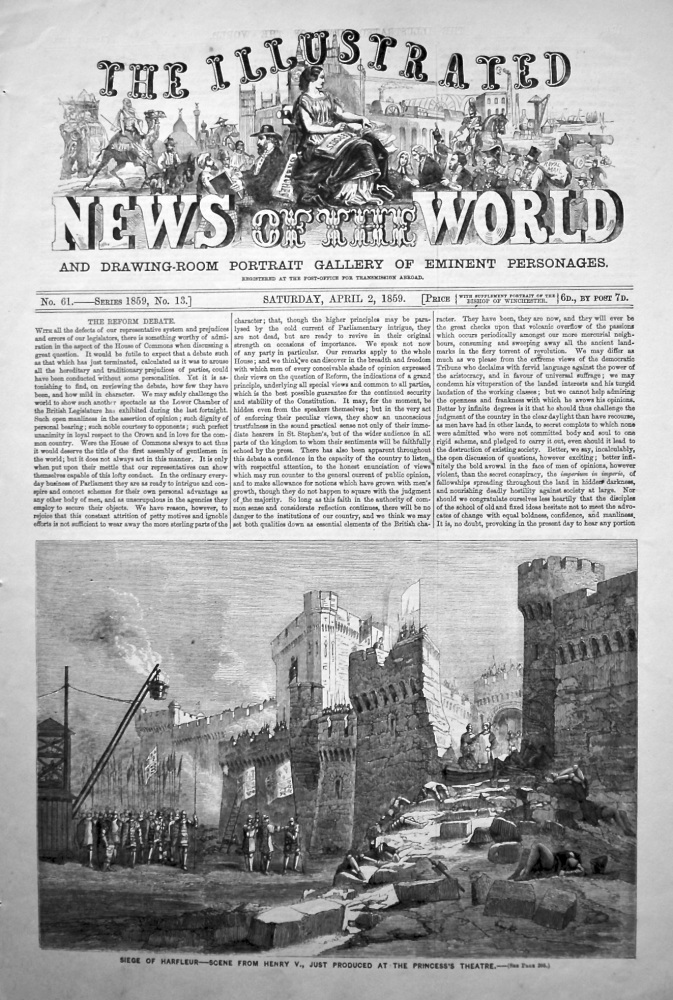 The Illustrated News of the World, April 2nd, 1859.