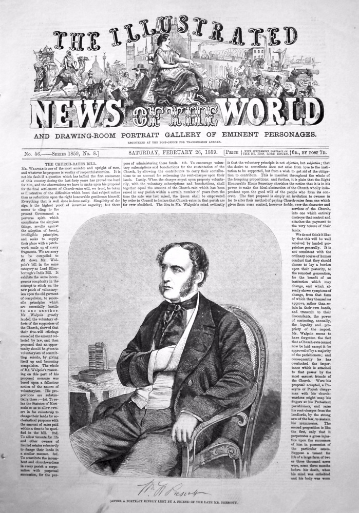 The Illustrated News of the World, February 26th, 1859.