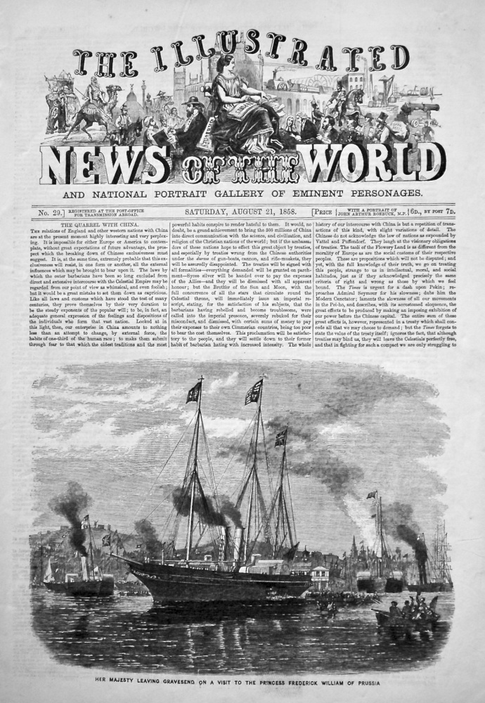 The Illustrated News of the World, August 21st, 1858.