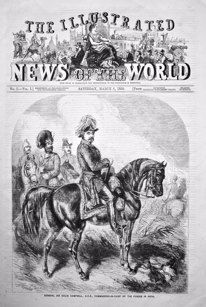 The Illustrated News of the World,  March 6th, 1858.