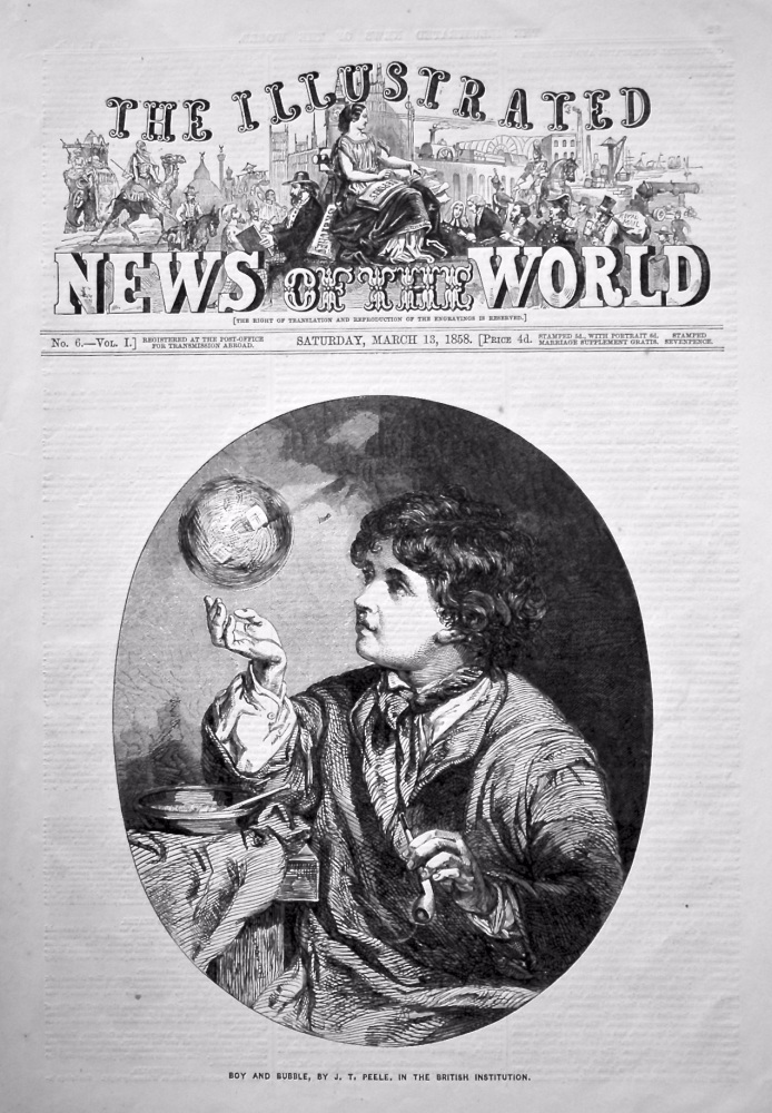 The Illustrated News of the World,  March 13th, 1858.