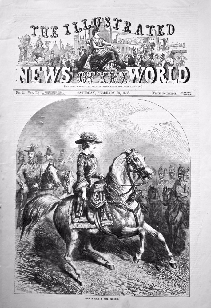 The Illustrated News of the World, February 20th, 1858.