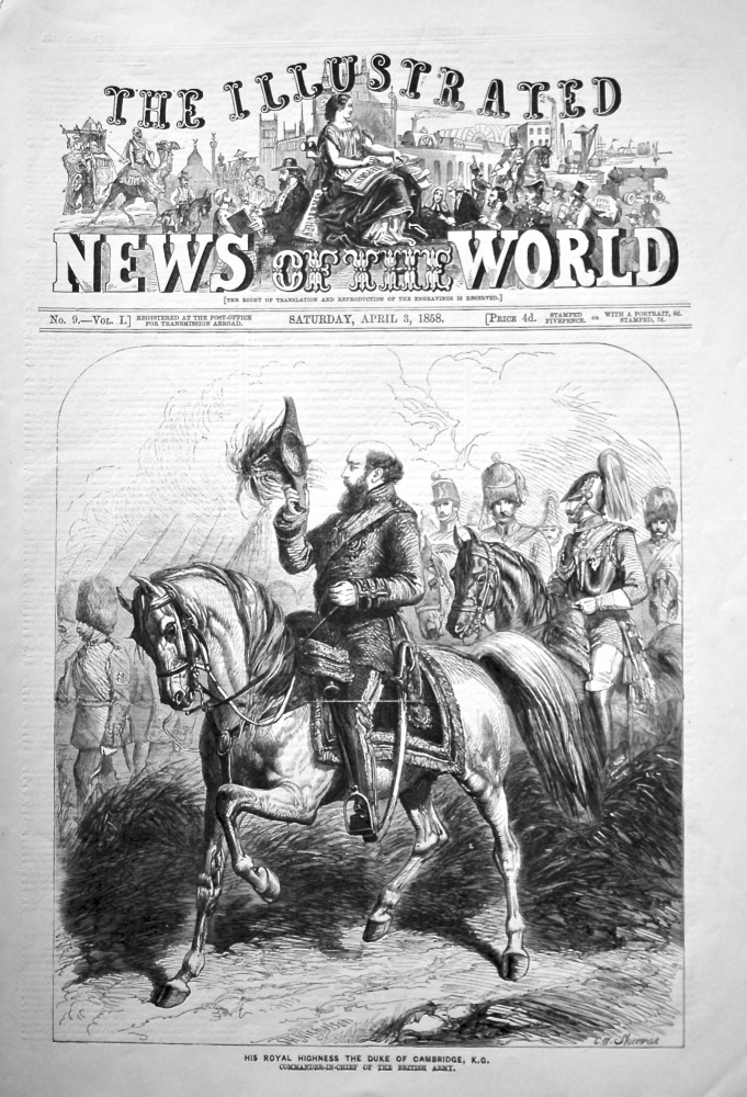 The Illustrated News of the World, April 3rd, 1858.