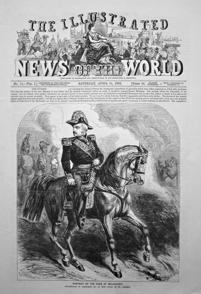 The Illustrated News of the World, April 24th, 1858.