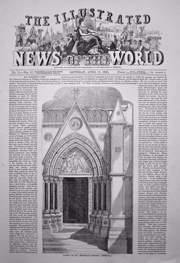 The Illustrated News of the World, April 17th, 1858.