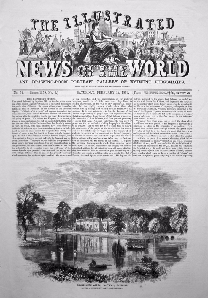 The Illustrated News of the World, February 12th, 1859.