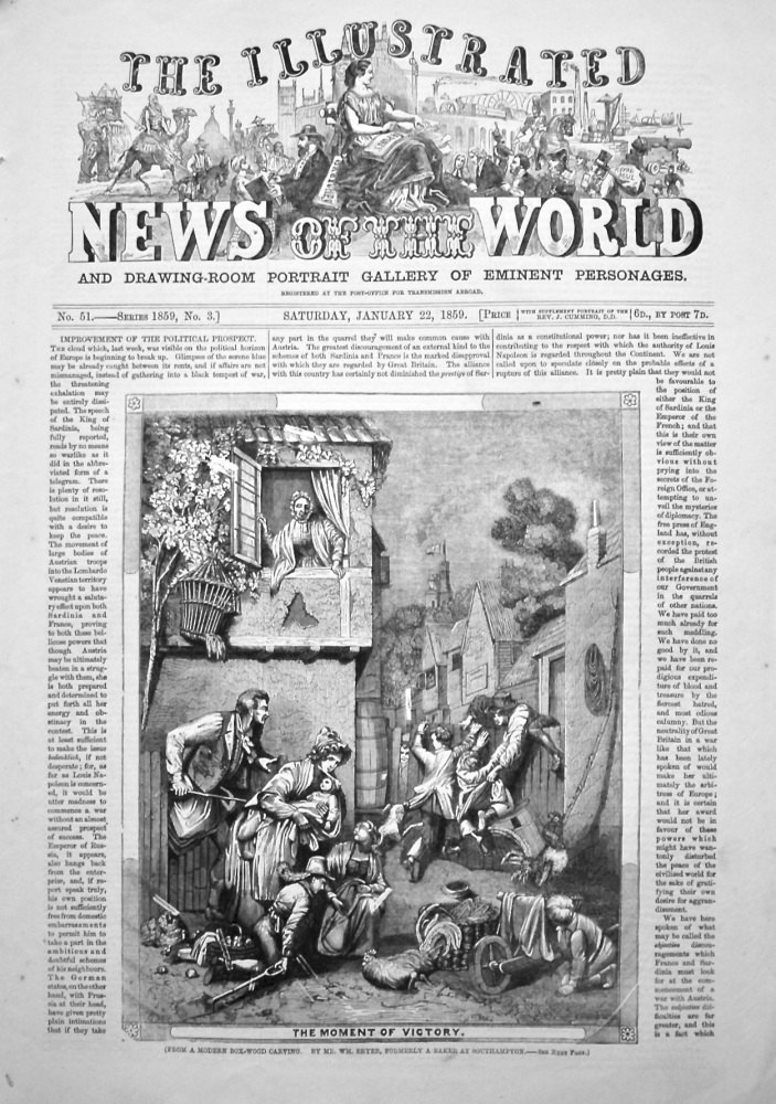 The Illustrated News of the World, January 22nd, 1859.