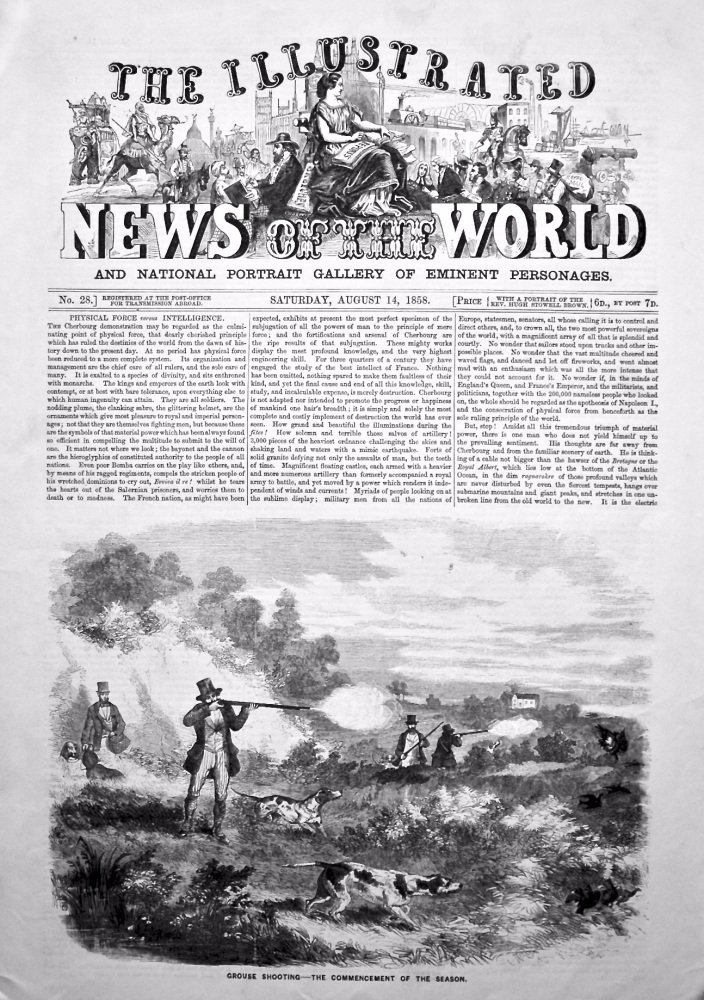 The Illustrated News of the World, August 14th, 1858.