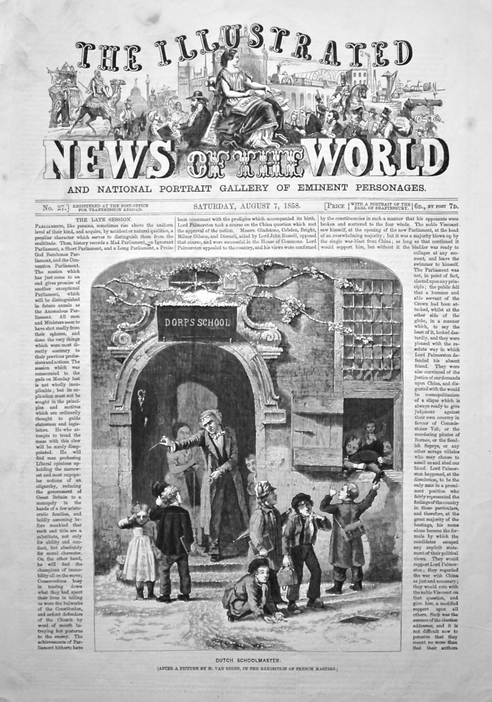 The Illustrated News of the World, August 7th, 1858.