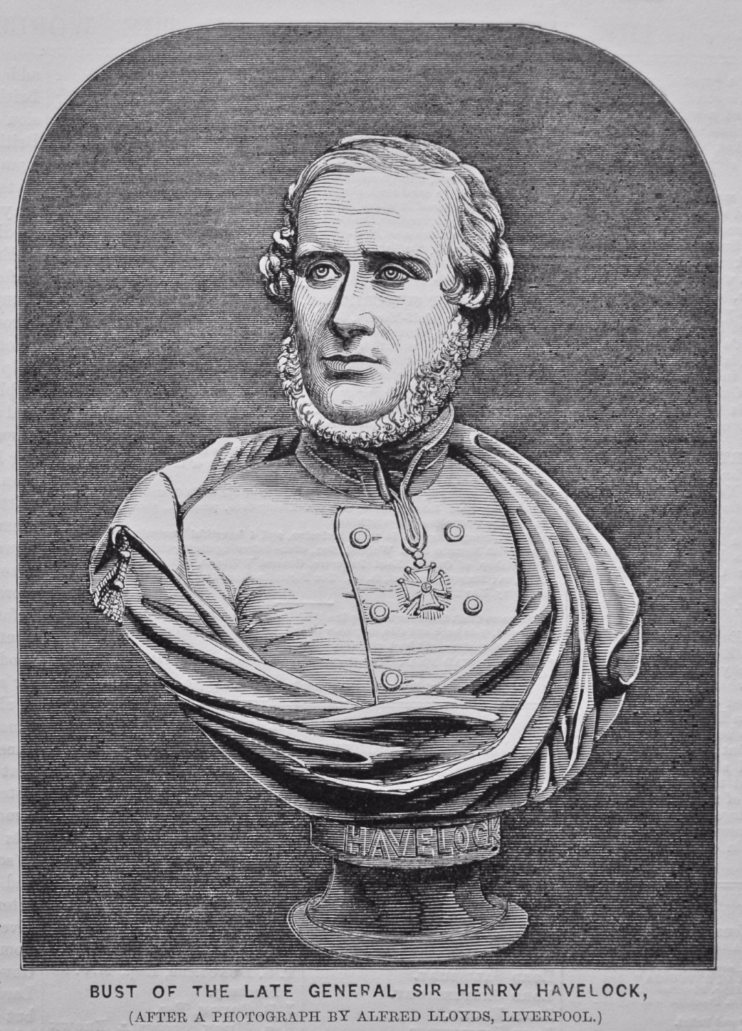 Bust of the Late General Sir Henry Havelock, (After a Photograph by Alfred