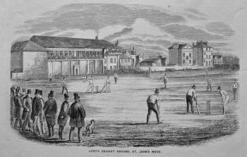 Lord's Cricket Ground, St. John's Wood. 1858.