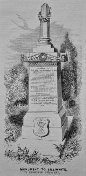 Monument to Lilliwhite, in Highgate Cemetery. (Cricketer) 1858.
