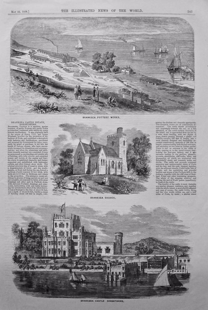 Branksea Castle Estate, Dorsetshire.  1858.