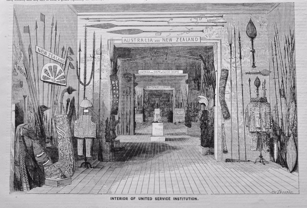 Interior of the United Service Institution.  1858.