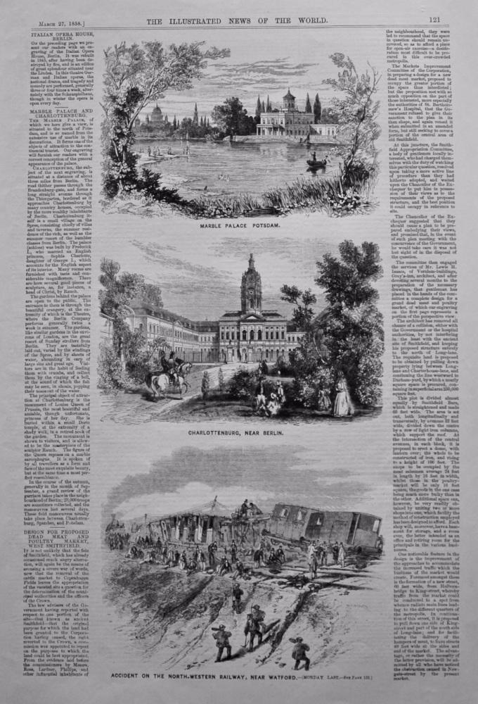 Marble Palace, Potsdam, and Charlottenburg, near Berlin.  1858.