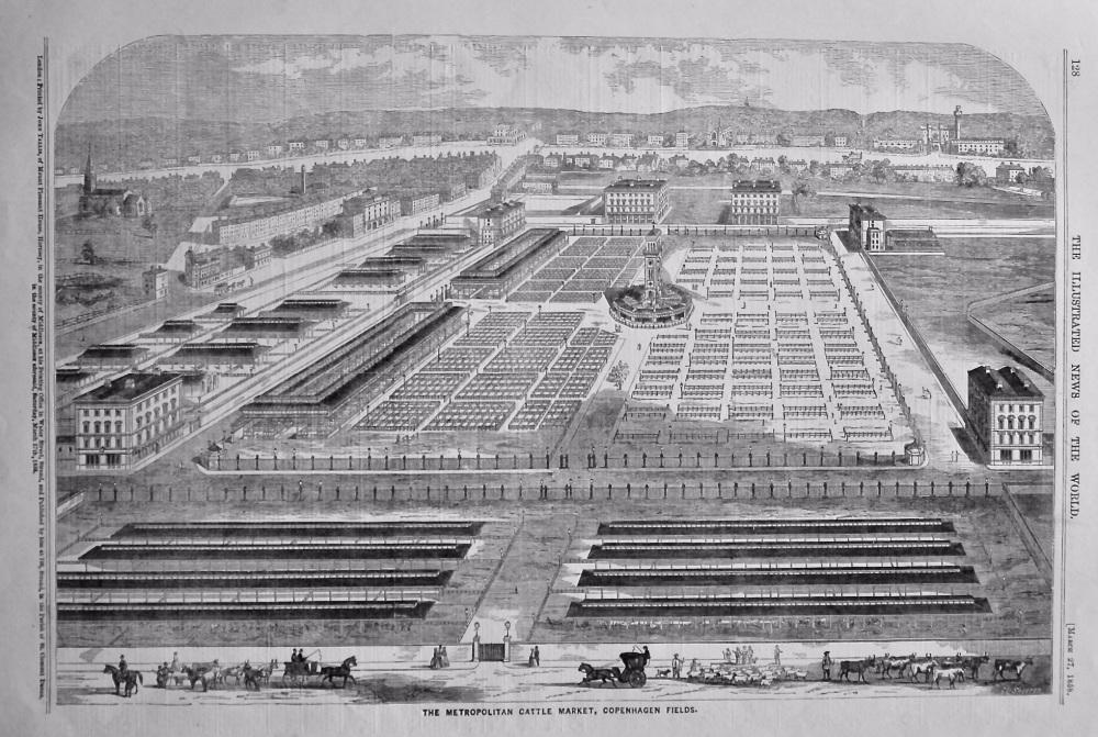 The Metropolitan Cattle Market, Copenhagen Fields.  1858.