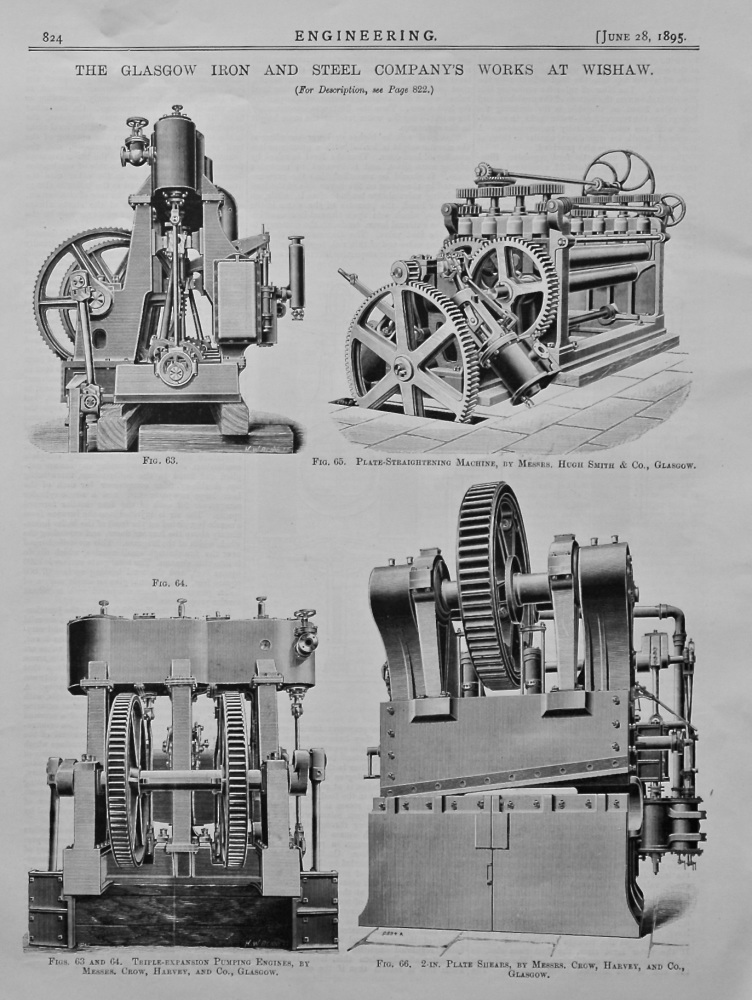 The Glasgow Iron and Steel Company's Works at Wishaw. 1895.