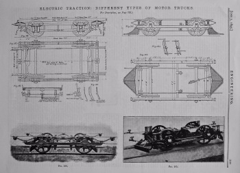 Electric Traction : Different Types of Motor Truck.  1895.