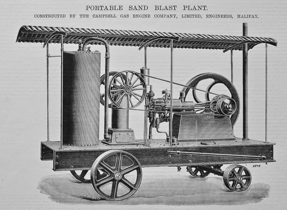 Portable Sand Blast Plant.  1895.