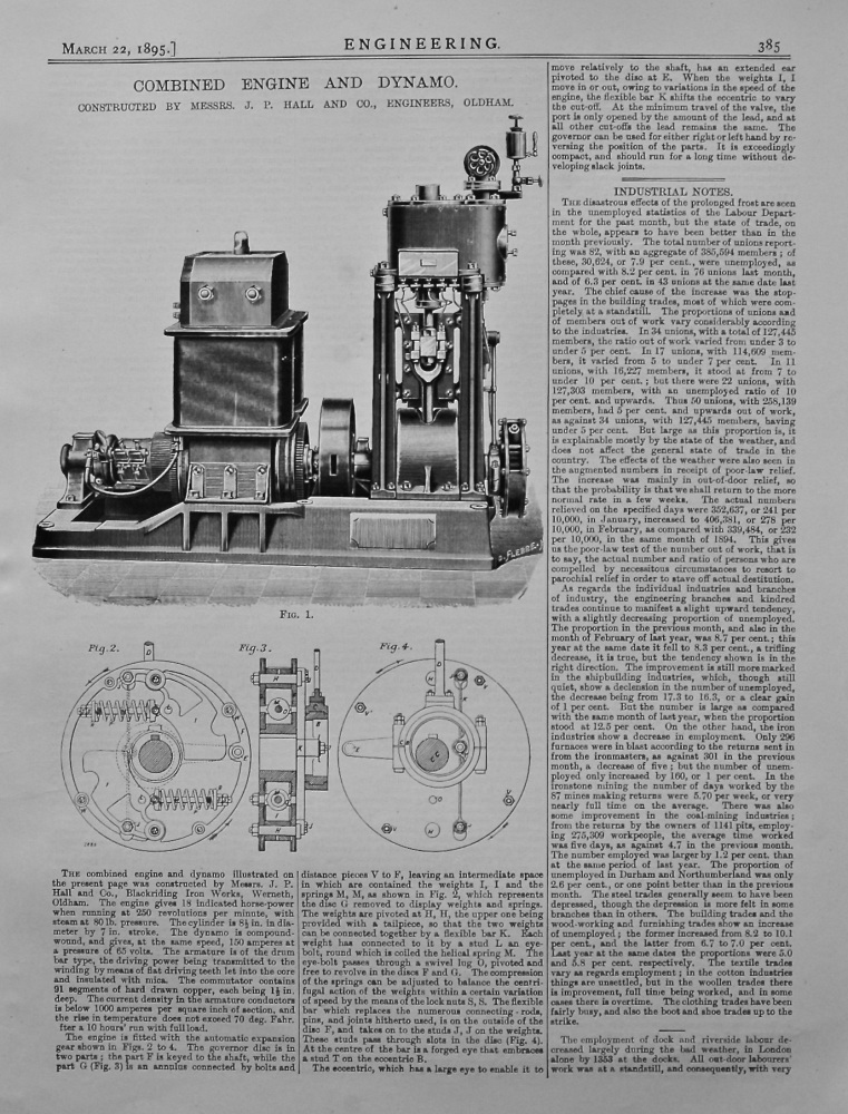 Combined Engine and Dynamo. 1895.